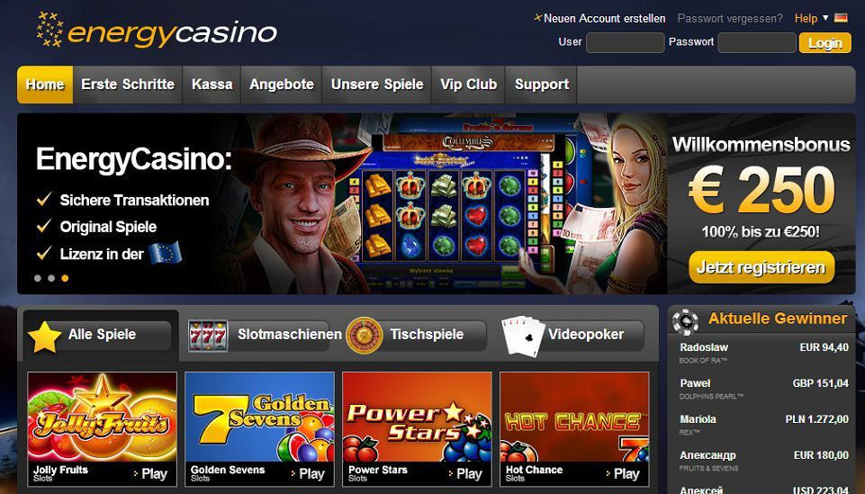 online slots spielen casino on line