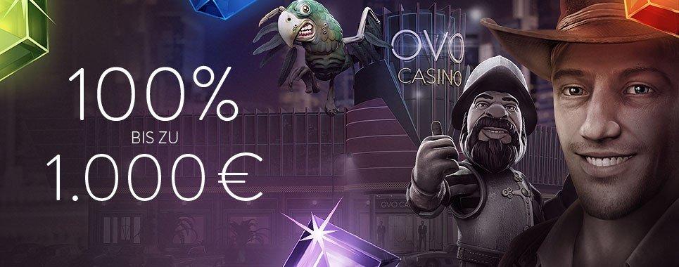 OVO Casino mit 750 € Bonus
