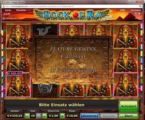casino games online book of ra gewinn