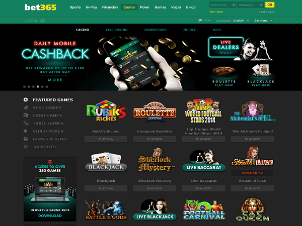 Bet365 Casino Playtech