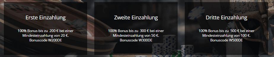 viks willkommens paket bonus
