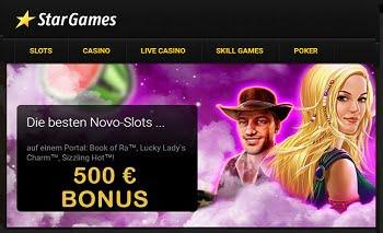 Stargames Casino Bonus 500€