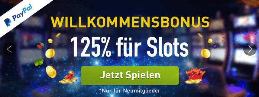 Casinoclub Bonus 125 Prozent