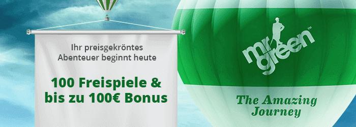 Mr Green Willkommens Bonus