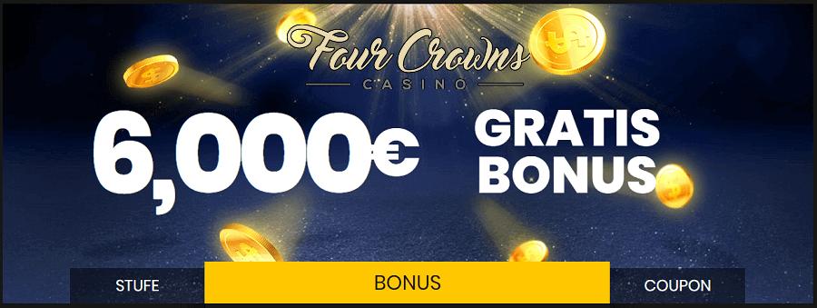 Willkommens Bonus im Four Crowns Casino