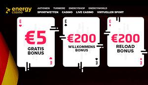 5 Euro gratis bonus energy casino