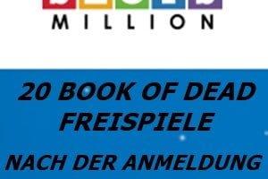 20 Book of Dead Freispiele kostenlos bei Slots Million