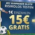 15€ gratis für Stakelogic Slots bei Sunmaker nutzen