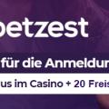 Betzest Casino Bonus » 5€ Gratis für Casino und 5€ für Sportwetten