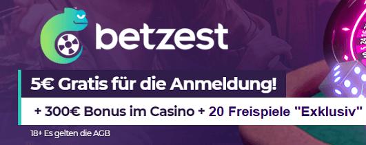 Betzest Casino Bonus ohne Einzahlung plus Freispiele