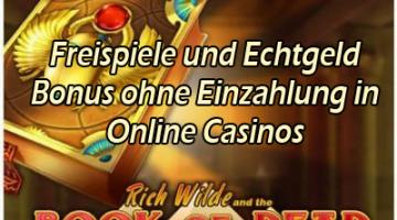 Freispiele und Bonus in Online Casinos