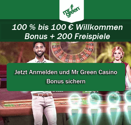 Mr Green Live Casino Bonus