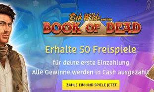 PlayOJO 50 Freispiele Book of Dead ohne Umsatz und bedingungen