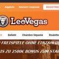Leo Vegas bietet bis zu 2500€ und Freispiele ohne Einzahlung an