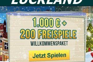 1000€ und 200 Freispiele zum Luckland Casinoeinstieg