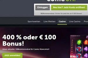 ComeOn Casino Willkommensangebote