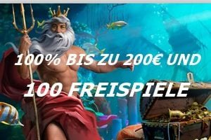 Neptune Play 200€ Willkommensbonus mit 200 Freispielen