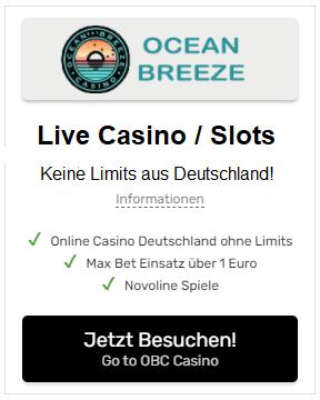 Ocean Breeze Casino Deutschland ohne Limits