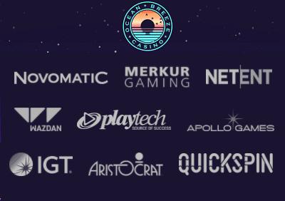 Ocean Breeze Casino Spiele Hersteller